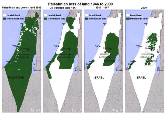 اسرائیل سے تعلقات بننے کے بعد فلسطین کا ہر لمحہ سکڑتا نقشہ